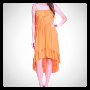 Dresses & Skirts - Ruffle acent high low dress